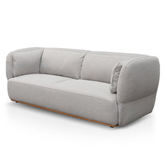 Fleming 3 Seater Fabric Sofa - Light Texture Grey