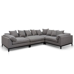 Angelo Fabric Corner Sofa - Oslo Grey