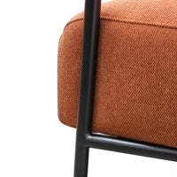 Constance Fabric Armchair - Burnt Orange - Black Legs