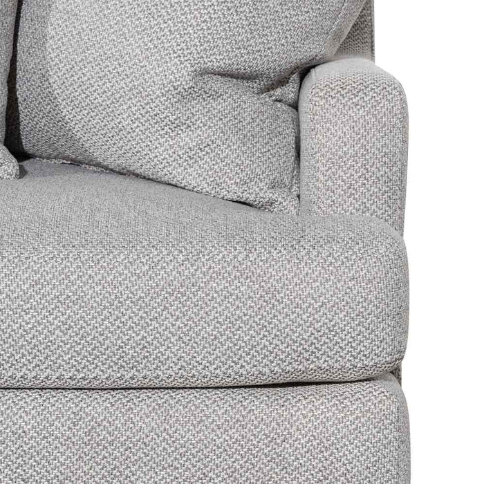 Alana 3 Seater Left Chaise Fabric Sofa - Grey