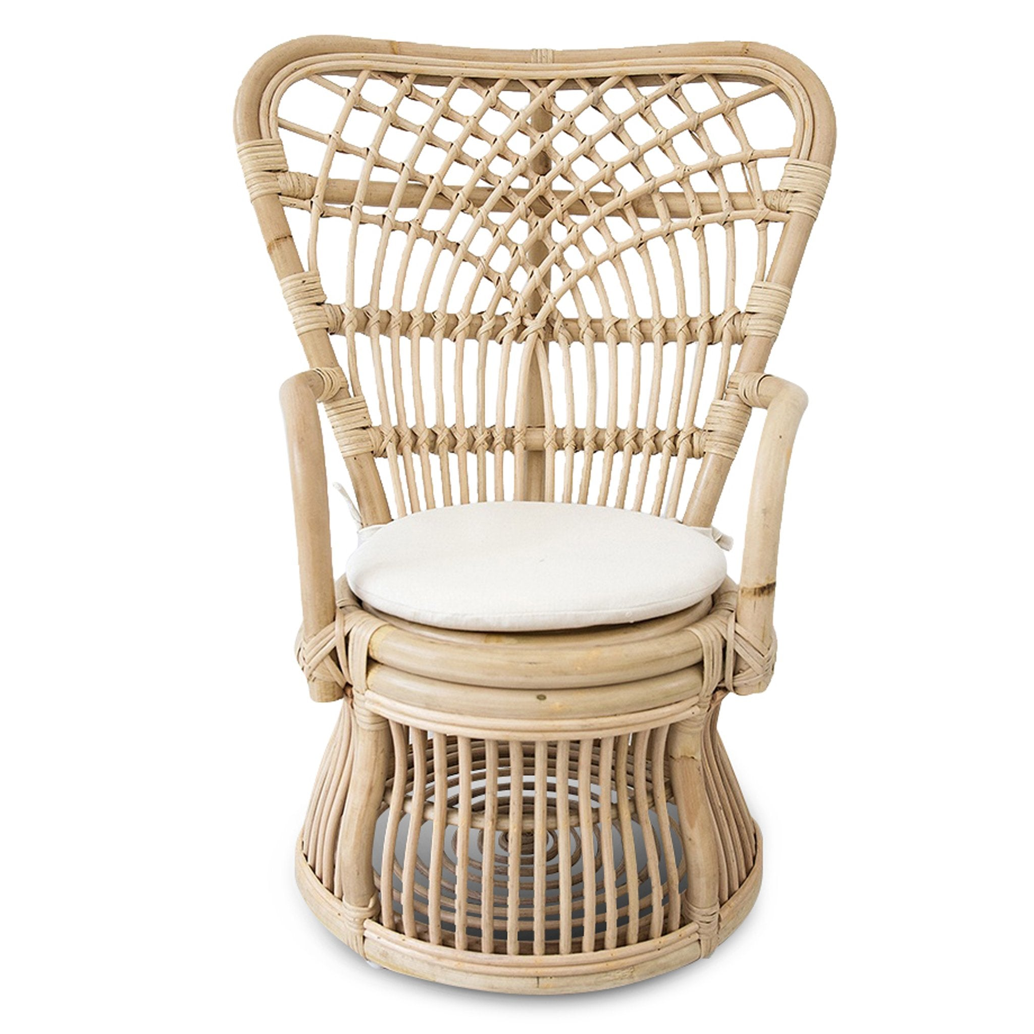 Cleo Peacock Rattan Kids Chair Natural Interior Secrets