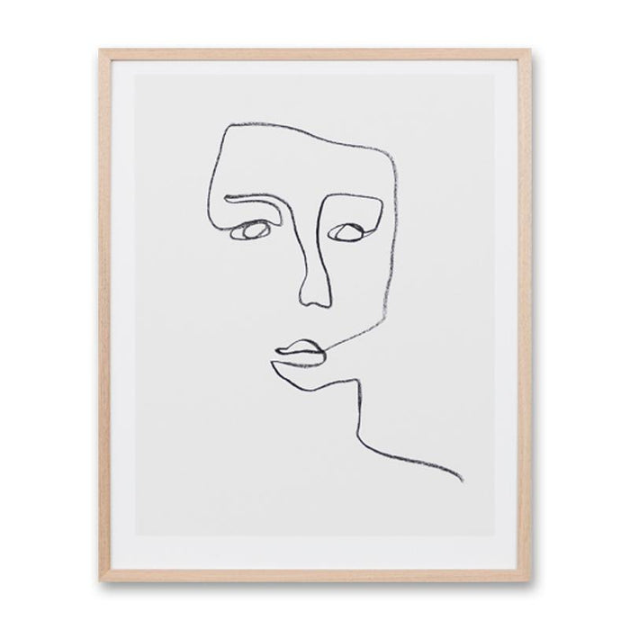Linear Portrait 3 Wall Art Print