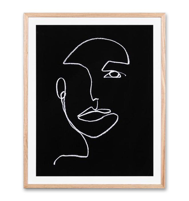 Linear Portrait Night 2 Wall Art Print