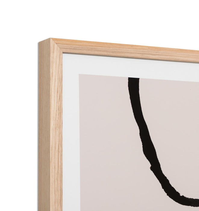 Lines Nude 2 Framed Wall Art Print