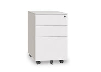 Lunar Metal Mobile Pedestal - White