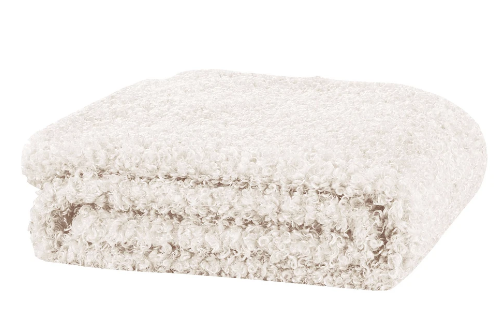 Lyla Faux Sheep Fur Throw 130x160cm - Ivory