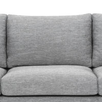 Denmark 3 Seater Fabric Sofa - Graphite Grey - Natural Legs