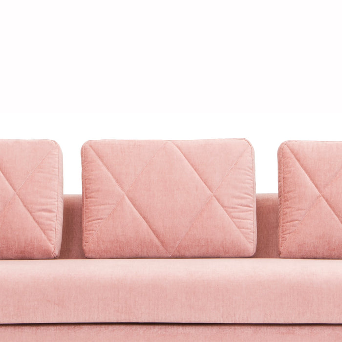 Zana 3 Seater Sofa in Dusty Blush