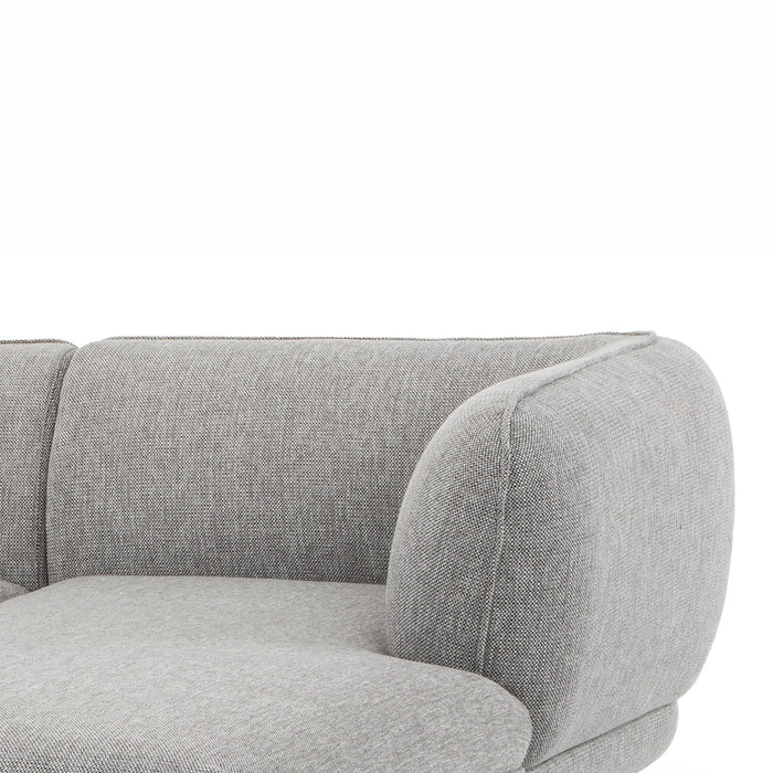 Regina 3 Seater Right Chaise Fabric Sofa - Dark Texture Grey