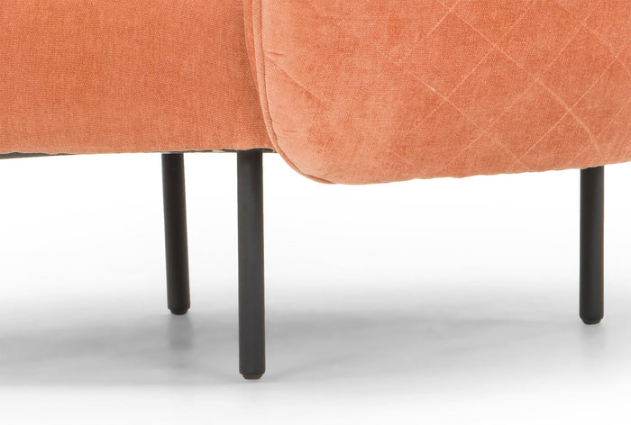 Nook Armchair - Dusty Peach in Black Leg