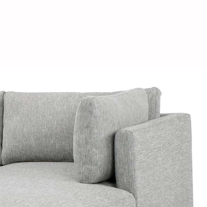 Kerry 3 Seater Right Chaise Fabric Sofa - Dark Texture Grey