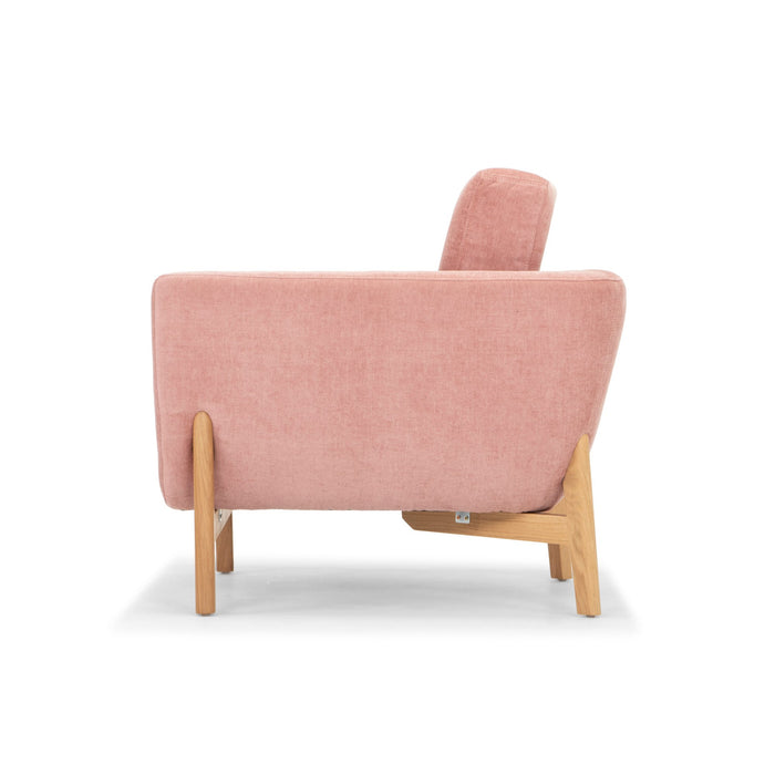 Helgrim Fabric Armchair - Dusty Blush