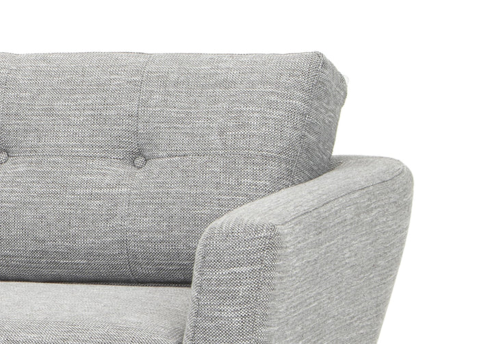 Helgrim 3 Seater Fabric Sofa - Dark Grey