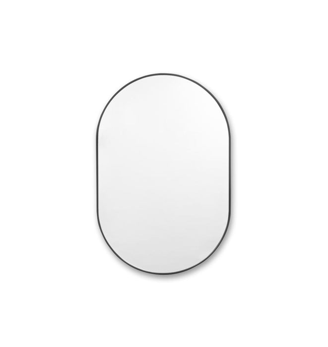 Bjorn Medium Oval Mirror - Black