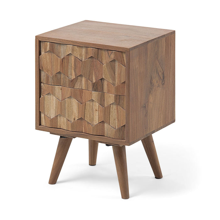 Magda Solid Wattle Timber Bedside Table