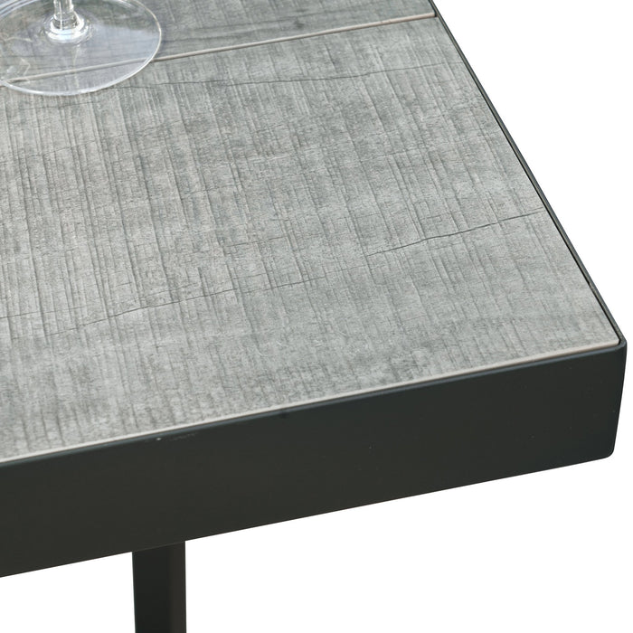 Memphis 80cm Ceramic Outdoor Bar Table - Charcoal