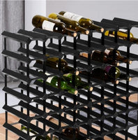 Merlot 72 Bottle Timber Wine Rack - Black