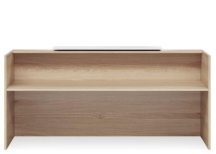 Mies Waterfall Reception Counter - Natural Oak