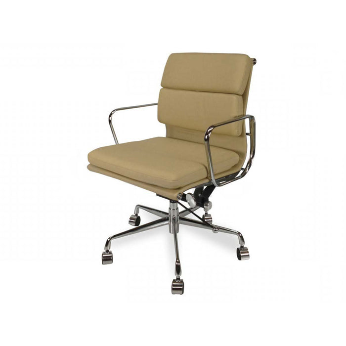 Ashton Low Back Office Chair - Light Brown Leather