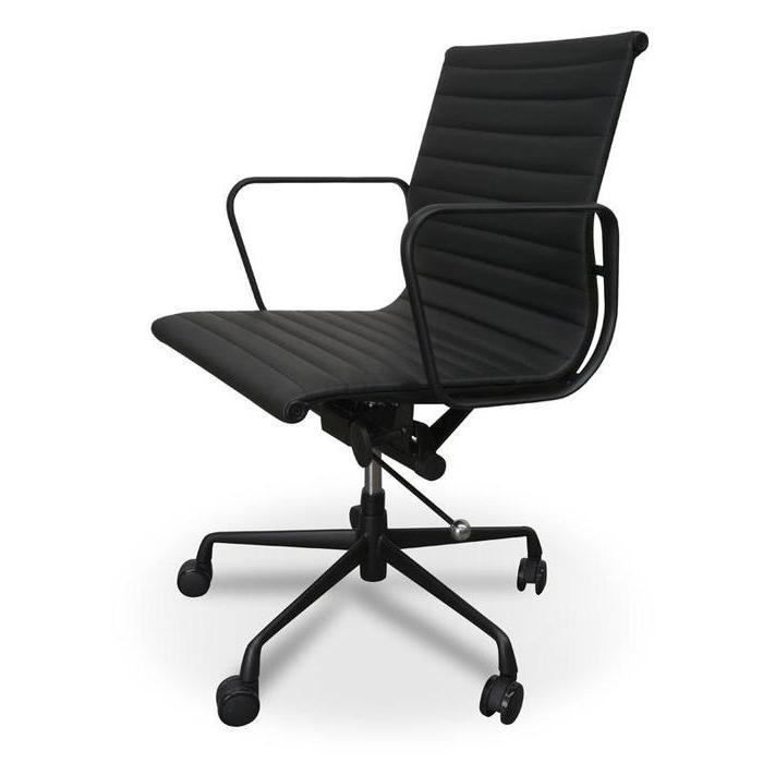 Management Office Chair - Eames Replica - Full Black