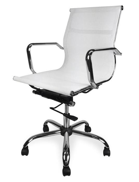 Carter Low Back Office Chair - White Mesh