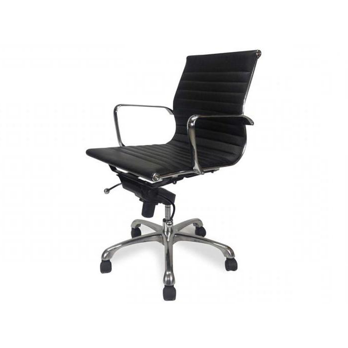 Veera Low Back Office Chair - Black Leather