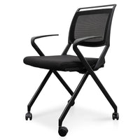 Josh Mesh Office Visitor Chair - Black