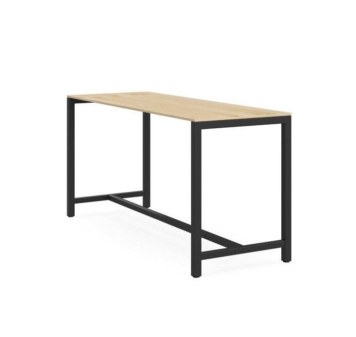 Den High Bench 2.1m Bar Table - Black Natural