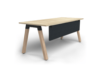 Plantation 1.8m Single Desk Solid Oak Legs with Modesty Panel - New Oak