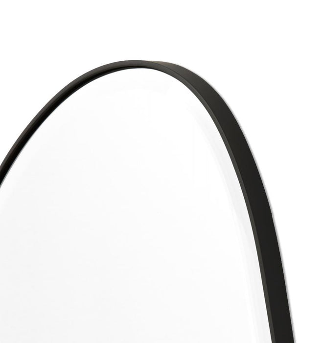 Pebble 70cm Organic Shaped Mirror - Black