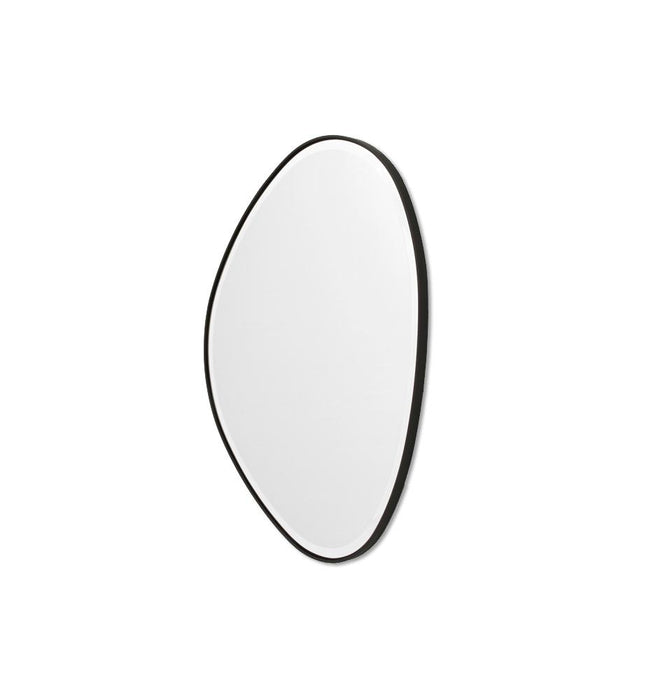 Pebble 90cm Organic Shaped Mirror - Black