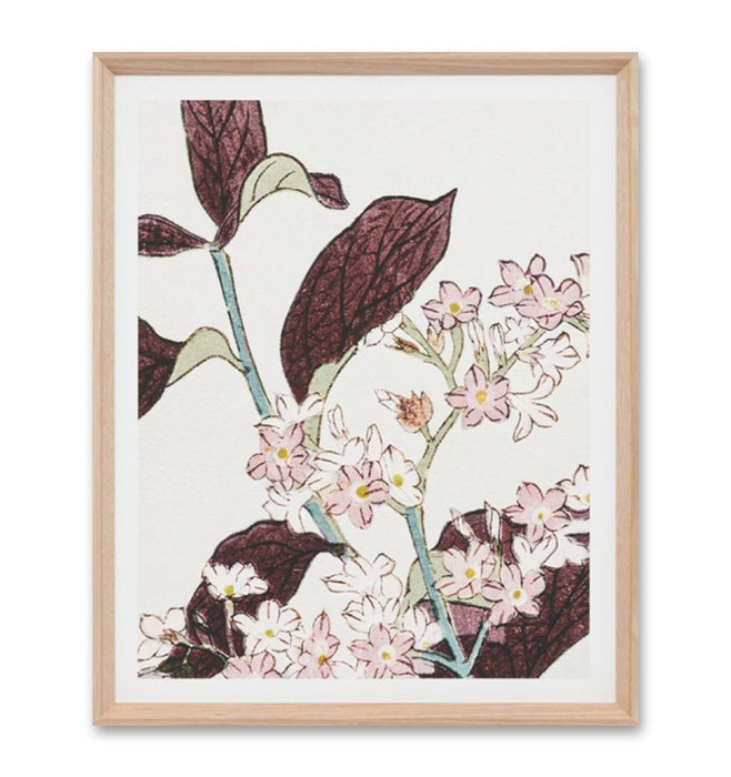 Perennial Woodblock Pink 1 Wall Art Print