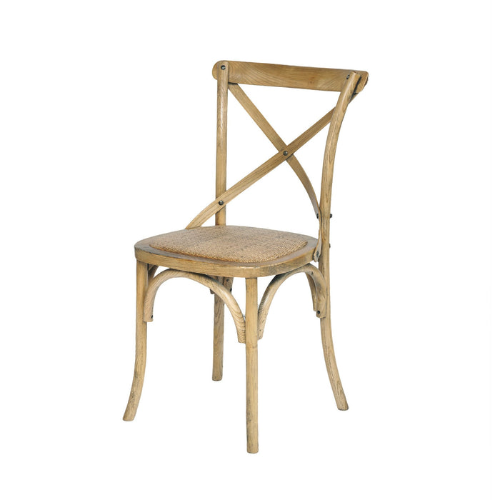 Province Cross-Back Solid Oak Chair - Natural