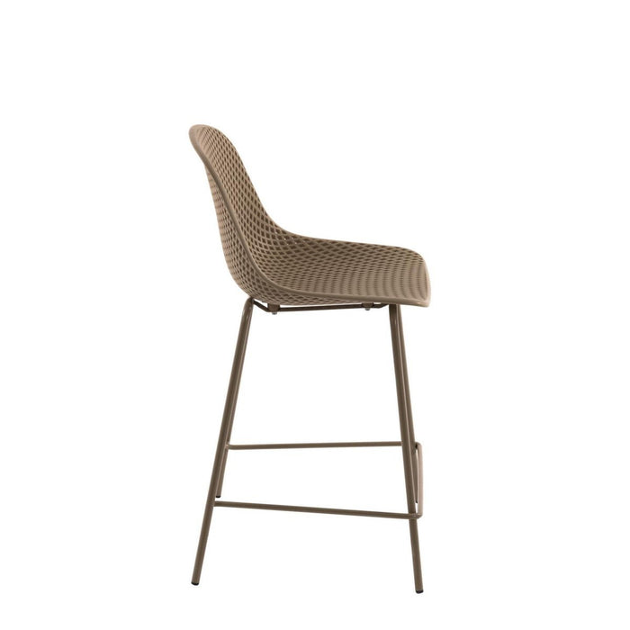 Quinby Outdoor Bar Stool - Beige