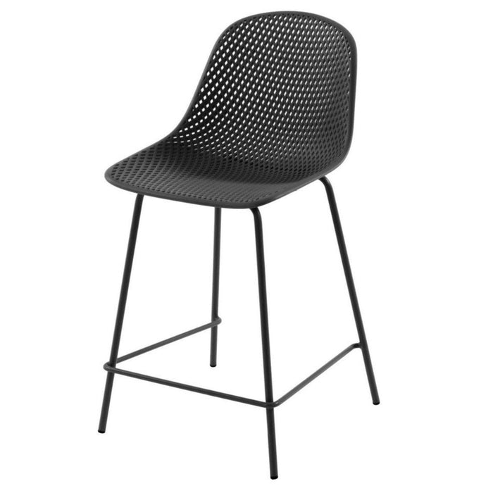 Quinby Outdoor Bar Stool - Black