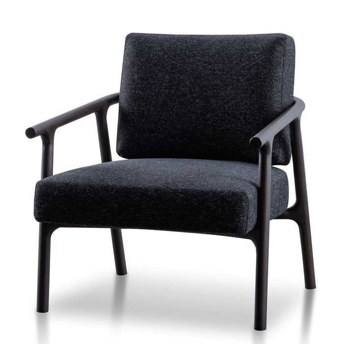 Reeves Fabric Armchair - Pitch Charcoal with Black Legs