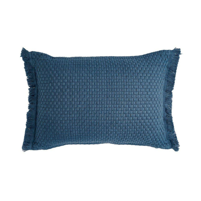 Rigour Cotton Fabric Cushion - Denim