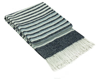 Risen Wool Blend Throw Rug - Navy