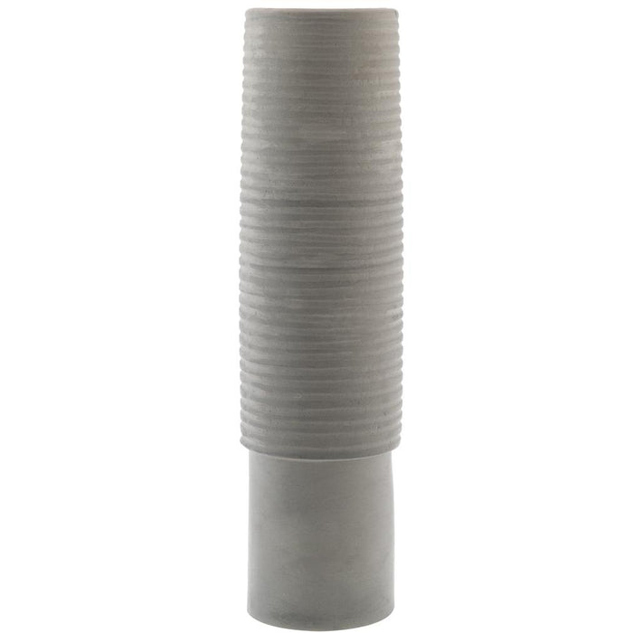 Zakkia Tall Ceramic Vase - Grey