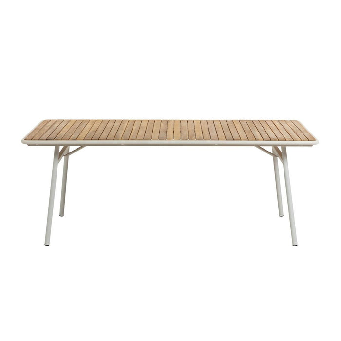 Robyn Acacia Timber Outdoor 200cm Dining Table - White