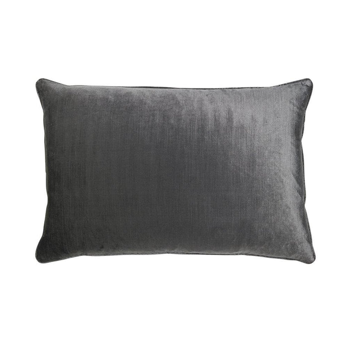 Roma 40x60cm Velvet Cushion - Charcoal