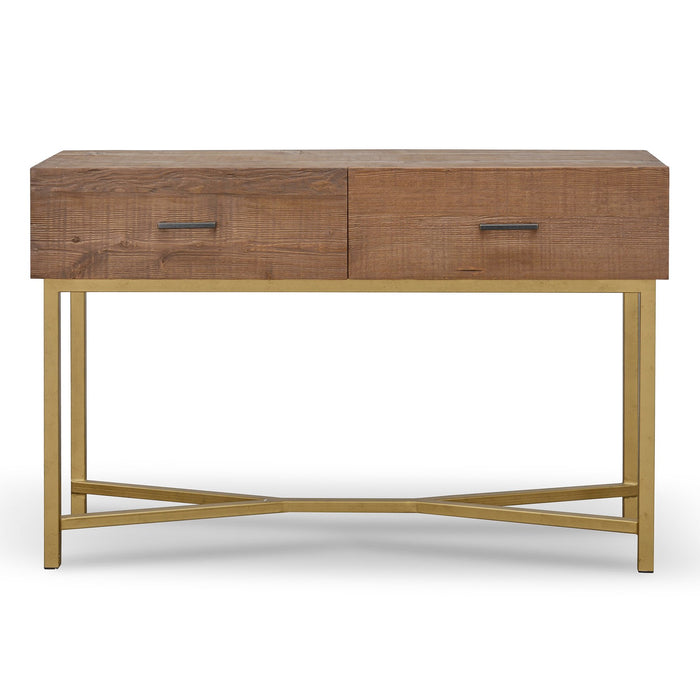 Royce 1.2m Reclaimed Pine Narrow Wood Console Table