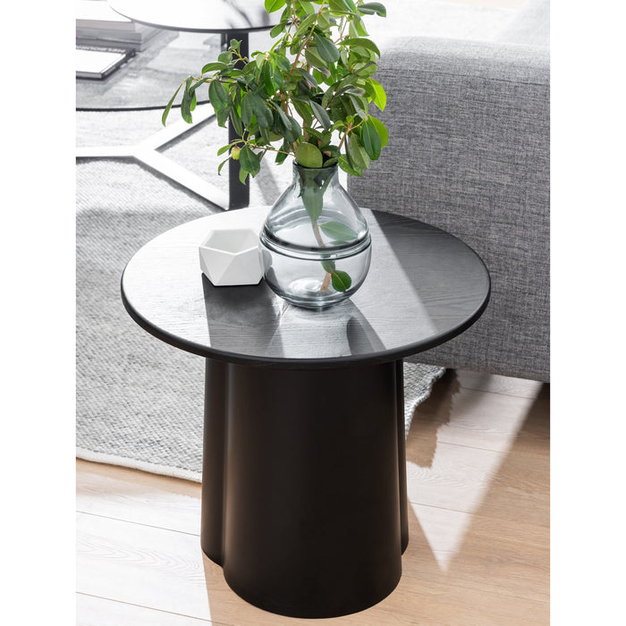 Polly Round Side Table - Black