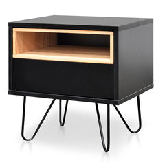 Anthony Bedside Table - Black