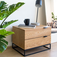 Talia Bedside Table - Natural Oak