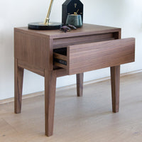Penley Wooden Bedside Table - Walnut