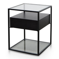 Norman Scandinavian Side Table - Full Black
