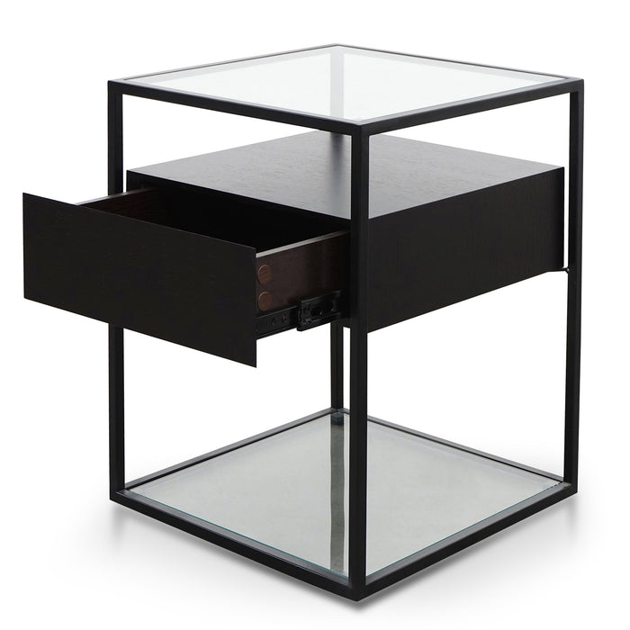 Norman Scandinavian Metal Frame Side Table - Full Black