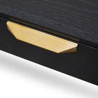 Allison Wooden Bedside Table - Black