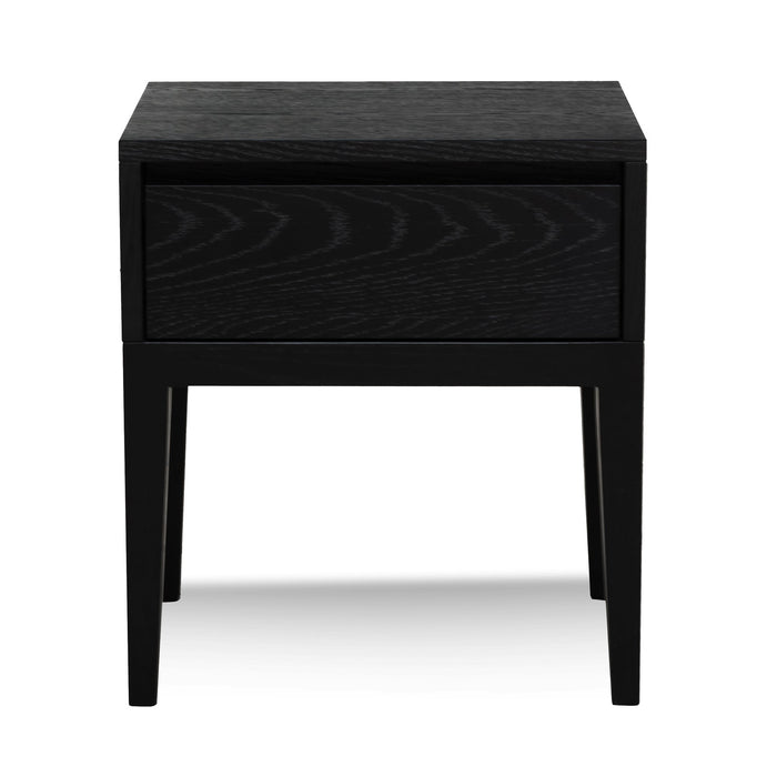 Penley Bedside Table - Black Oak